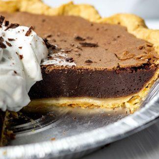Chocolate Chess Pie in Tin
