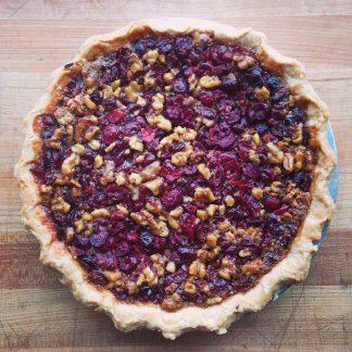 Cranberry Walnut Pie in Tin